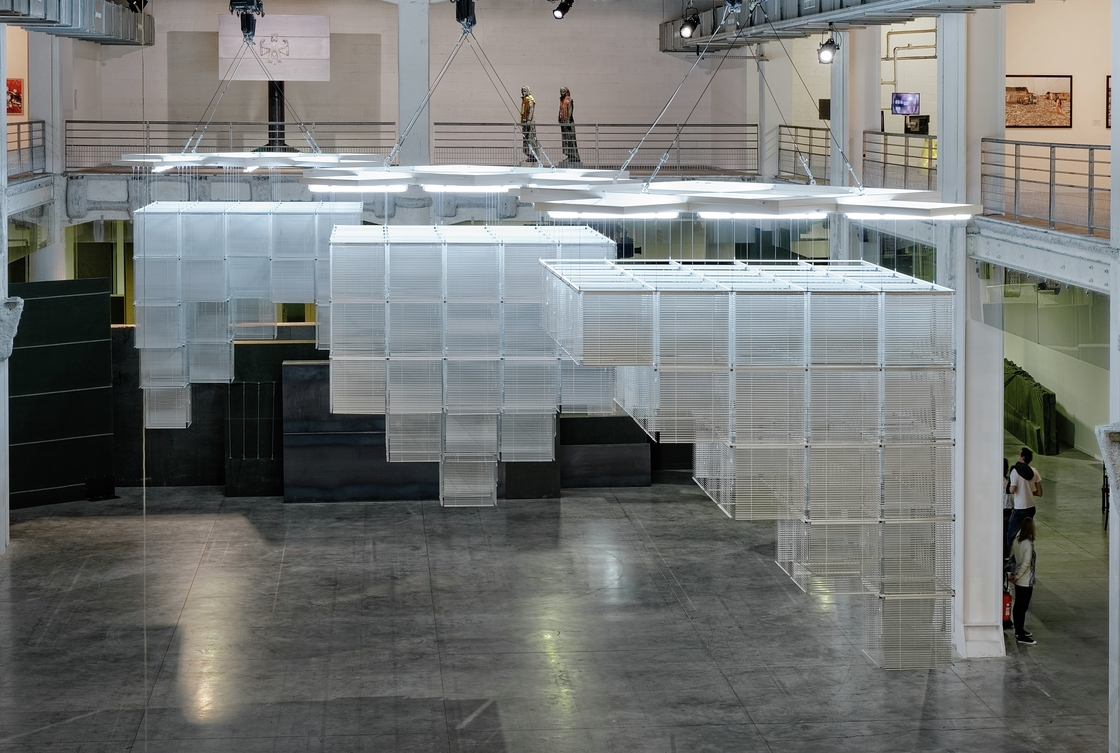 Sol LeWitt Upside Down - Structure with Towers, Expanded 23 Times, Split in Three