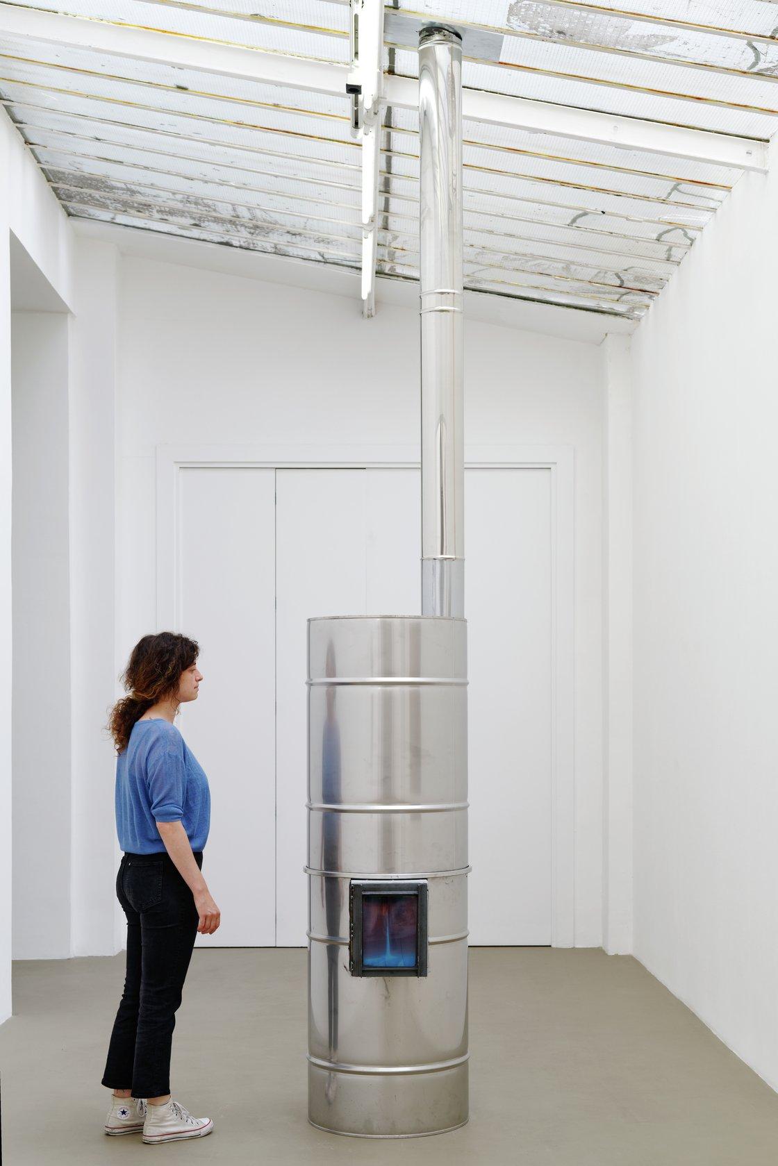 Oscar Tuazon, Inox Rocket, 2021