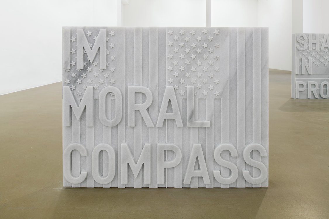 Rirkrit Tiravanija, untitled 2020 (im moral compass) (flags, 1987), 2020