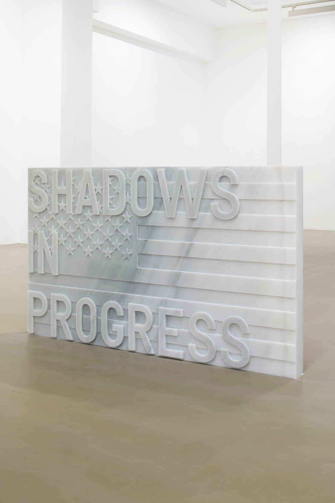 Rirkrit Tiravanija, untitled 2020 (shadows in progress) (flag, 1967), 2020