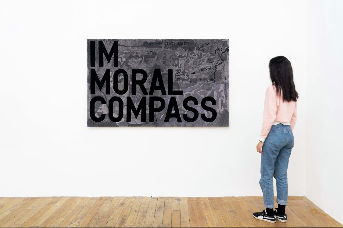 Rirkrit Tiravanija, untitled 2020 (im moral compass) (map, 1965), 2020