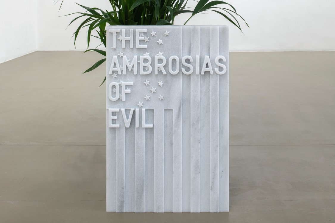 Rirkrit Tiravanija, untitled 2020 (the ambrosias of evil) (flag, 1971), 2020