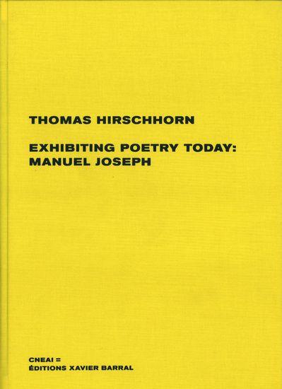 Exhibiting poetry today : Manual  Joseph